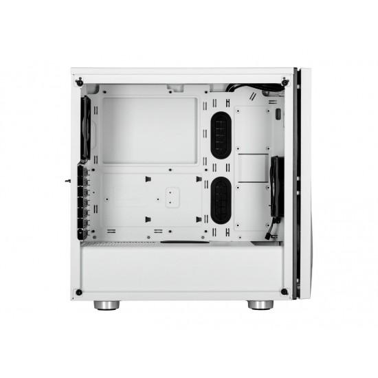 Corsair Carbide Series SPEC-06 CC-9011145-WW White Steel / Plastic / Tempered Glass ATX Mid Tower Computer Case