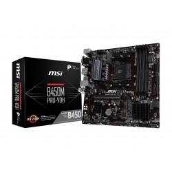 MSI B450M PRO-VDH AM4 AMD B450 SATA 6Gb/s USB 3.1 HDMI AMD Motherboard