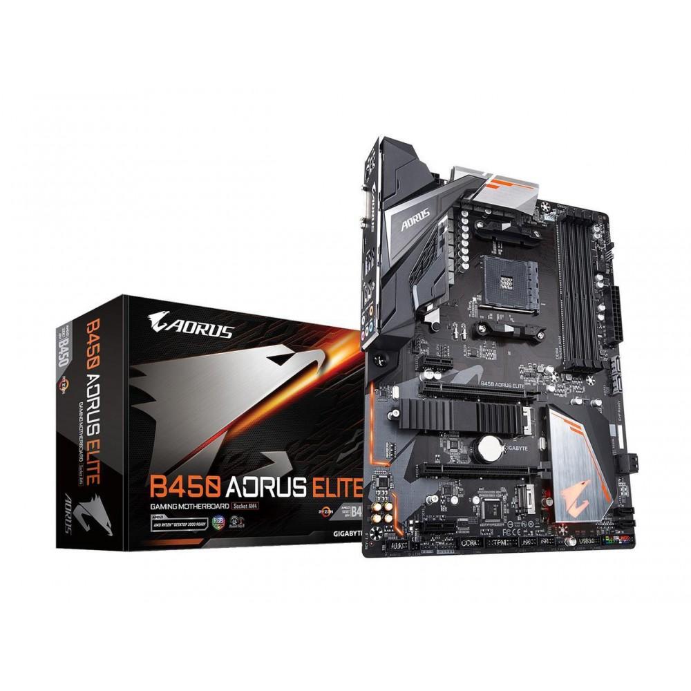 GIGABYTE B450 AORUS ELITE AM4 AMD B450 SATA 6Gb/s USB 3.1 HDMI ATX AMD Motherboard