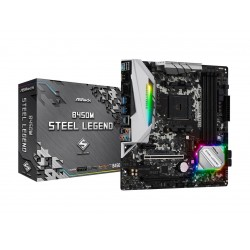 ASRock B450M Steel Legend AM4 AMD Promontory B450 SATA 6Gb/s USB 3.1 HDMI Micro ATX AMD Motherboard