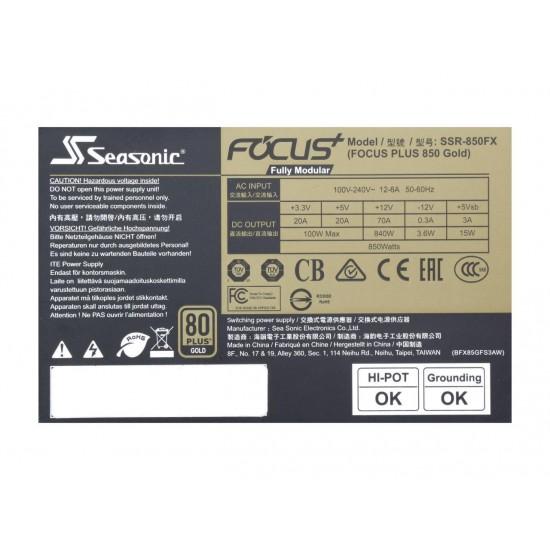 Seasonic FOCUS Plus SSR-850FX 850W 80+ Gold Full Modular
