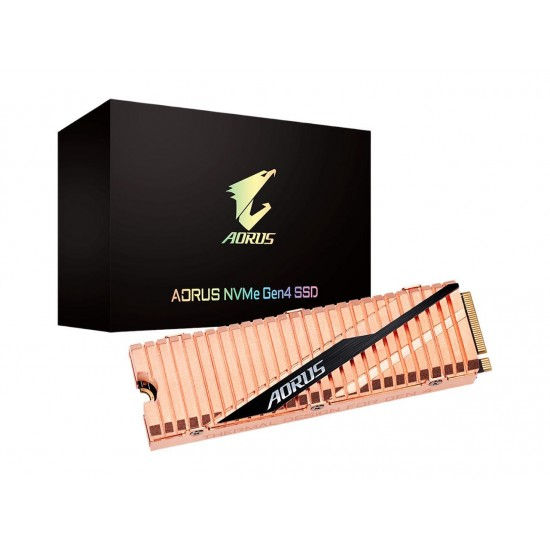 GIGABYTE AORUS NVMe Gen4 SSD 2TB M.2 2280 PCI-Express 4.0 x4 3D TLC Internal Solid State Drive (SSD) Dual Side Copper GP-ASM2NE6200TTTD