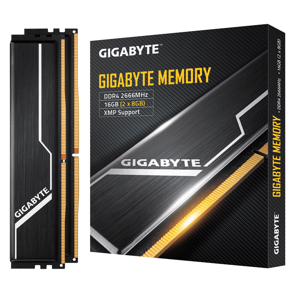 Gigabyte 16GB (2 x 8GB) 288-Pin DDR4 SDRAM DDR4 2666 (PC4 21300) Desktop Memory Model GP-GR26C16S8K2HU416