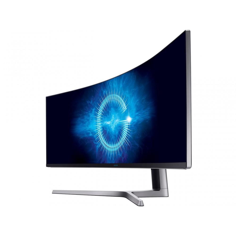 "Samsung CHG90 Series C49HG90 49"" 1800R 3840x1080 32:9 144Hz 3:000:1 QLED Curved HDR AMD FreeSync Gaming Monitor, 3840 x 1080 1ms, 2xHDMI, DisplayPort, Mini DisplayPort, USB Hub, VESA mount"