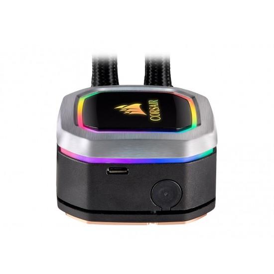 CORSAIR Hydro Series, H100i RGB PLATINUM, 240mm, 2 X ML PRO 120mm RGB PWM Fans, Advanced RGB Lighting & Fan Control w/ Software, Liquid CPU Cooler. CW-9060039-WW. Support: Intel 2066, AMD AM4, TR4.