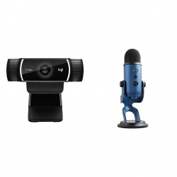 Logitech C922x Pro Stream Webcam + Blue Yeti – Full 1080p HD Camera