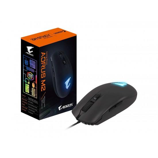 AORUS M2 Accurate 6200 dpi Optical Engine, Lightweight eSports-Grade, Ambidextrous Design, RGB Fusion 2.0 Mouse (GM-AORUS M2)