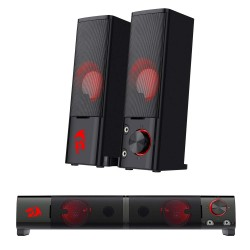 Redragon Orpheus GS550 Stereo Gaming Speakers Sound bar for PC with Red LED Backlight and Volume Control