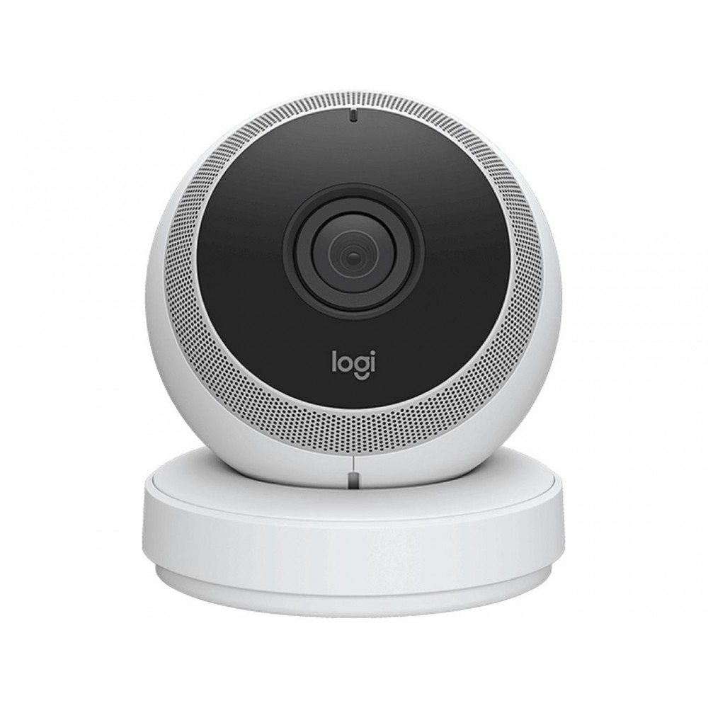 Logitech Circle Wireless 1080p Video Battery Powered Security Camera with Person Detection, Motion Zones and Custom Alerts (White)