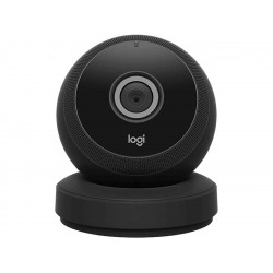Logitech Circle Wireless 1080p Video Battery Powered Security Camera with Person Detection, Motion Zones and Custom Alerts (Black)