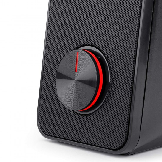 Redragon Stentor GS500 Stereo Gaming Speakers for PC with Red LED Backlight and Volume Control