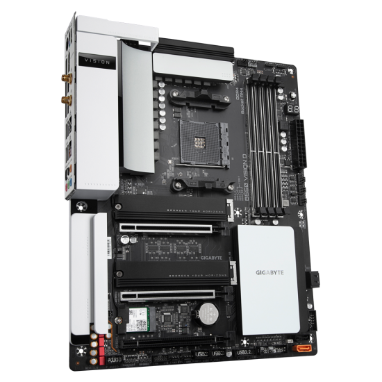 GIGABYTE B550 VISION D AM4 AMD B550 ATX Motherboard with Dual M.2, SATA 6Gb/s, Dual USB 3.2 Type-C with Titan Ridge, WIFI 6, Dual Intel GbE LAN, PCIe 4.0